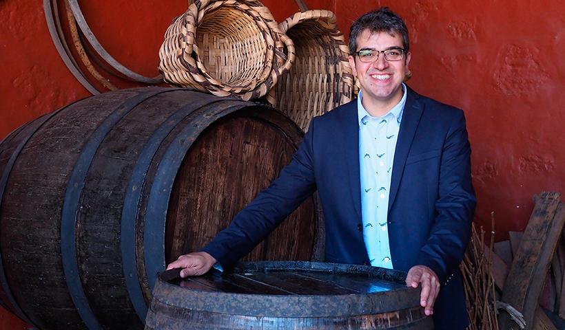 El sumiller Ferran Centelles en la Casa del Vino de El Sauzal | Foto. Sergio Méndez