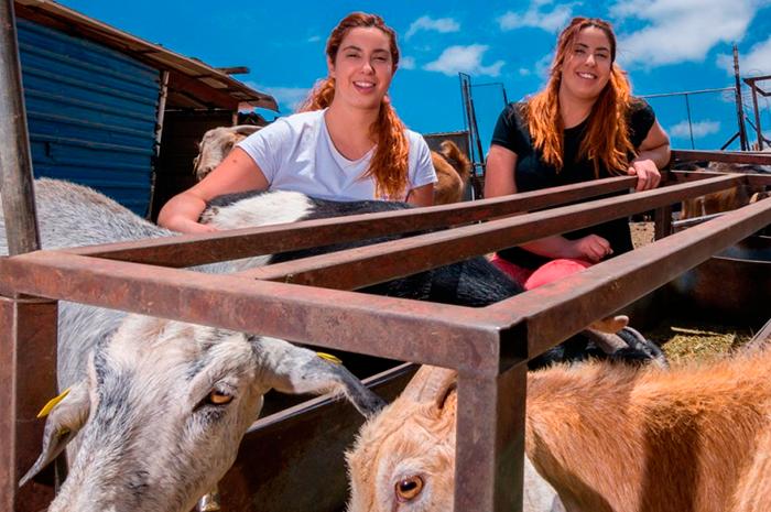 Las gemelas de Tejeda Beatriz y Natalia Mayor ganan el premio al Mejor Queso Curado de Gran Canaria