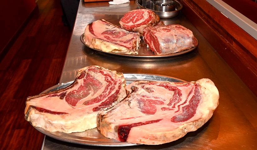 Algunas de las piezas de carne servidas en Brunelli's   Foto: Moisés Pérez