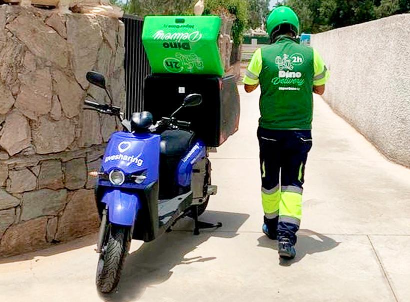 Dino Delivery es un servicio de entrega rápida a domicilio en menos de dos horas