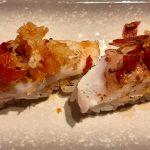 Nigiri de cherne & chips de jamón y foie, del restaurante Los Tronkos | Foto: José L. Conde