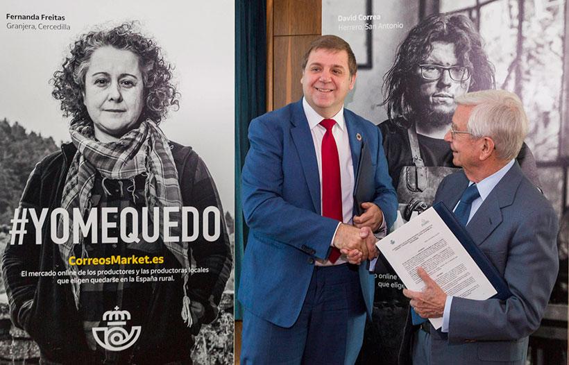 Juan Manuel Serrano y Rafael Ansón, durante el lanzamiento de la iniciativa