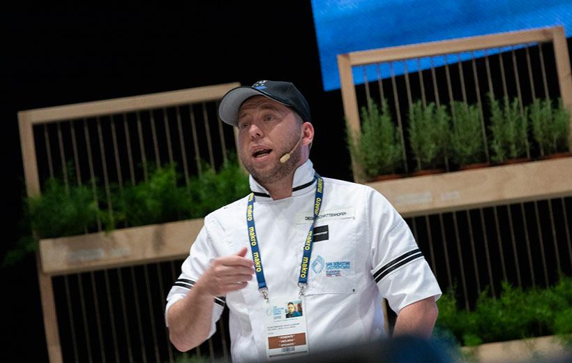 Diego Schattenhofer, durante su intervención en la última edición de Gastronomika | Foto: Coconut