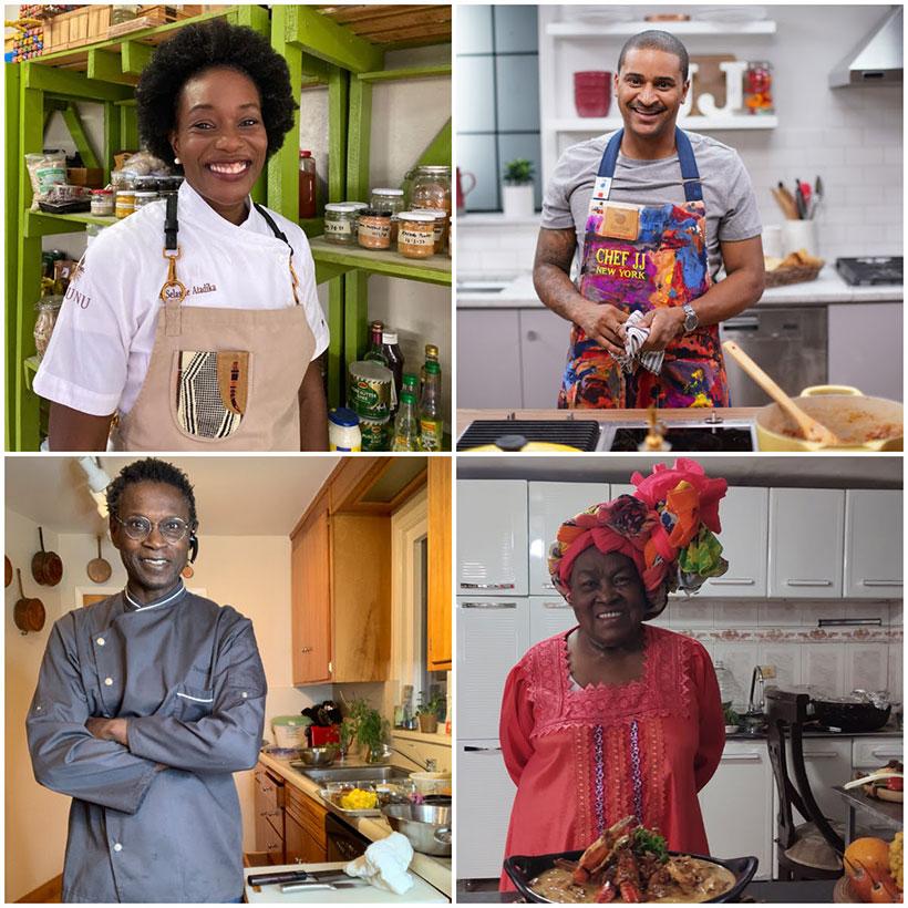 Selassie Atadika, JJ Jonhson, Pierre Thiam y Maura de Caldas   Imagen: Gastronomika