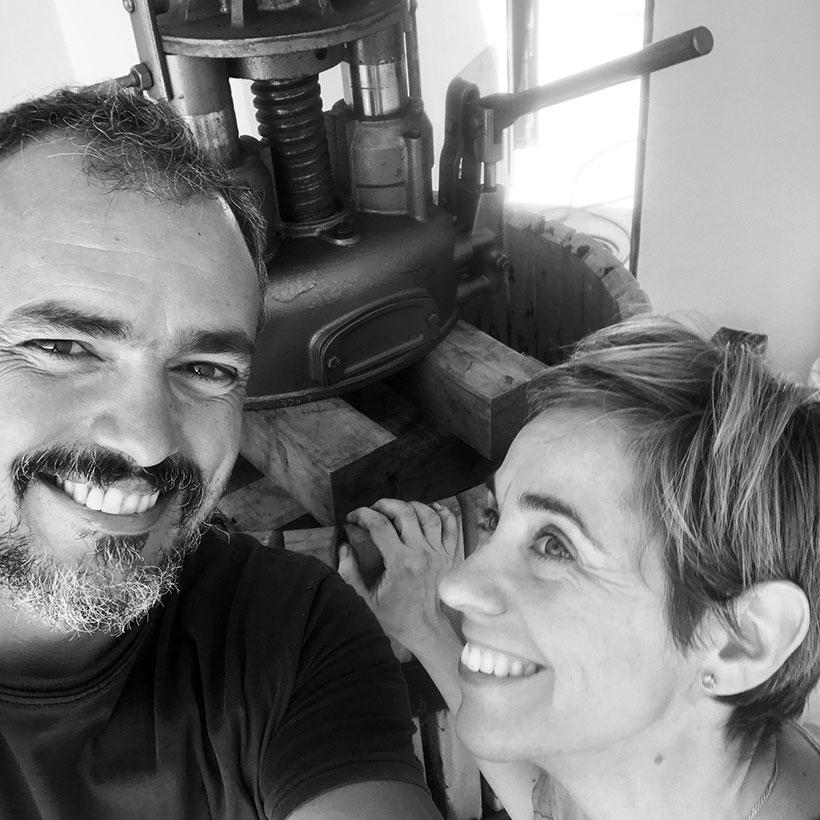 Loreto Pancorbo y Gabriel Morales