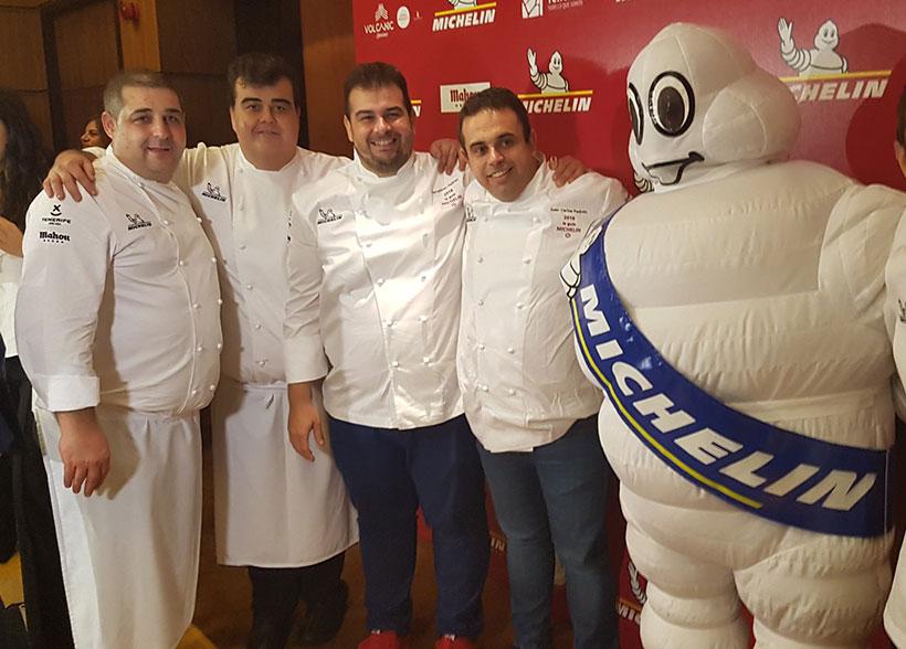 Erlantz Gorostiza, Toto Regalado y los hermanos Padrón, estrellas Michelin de Canarias   Foto: José L. Conde