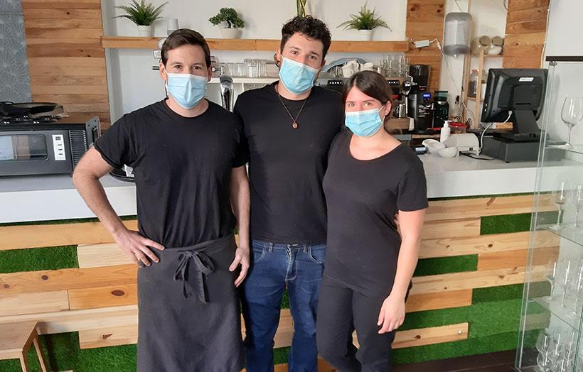 Óscar Gutiérrez, Pau Iborra y Marisol Zelis   Foto: José L. Conde
