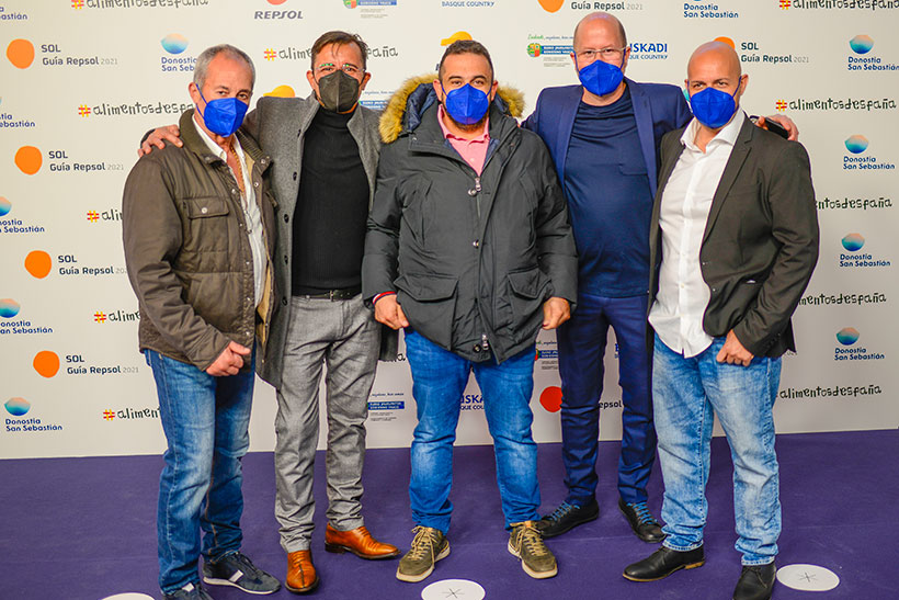 De izquierda a derecha, Juan Perdomo, Carmelo Florido, Juan Carlos Padrón, Seve Díaz y Andrea Bernardi