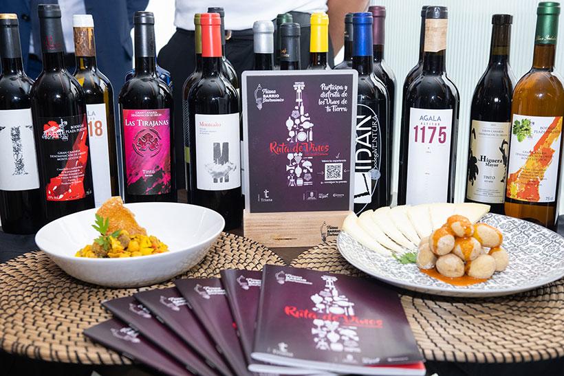 Cada restaurante de la ruta ofrece un maridaje, entre un plato elaborado con producto local y un vino de la isla