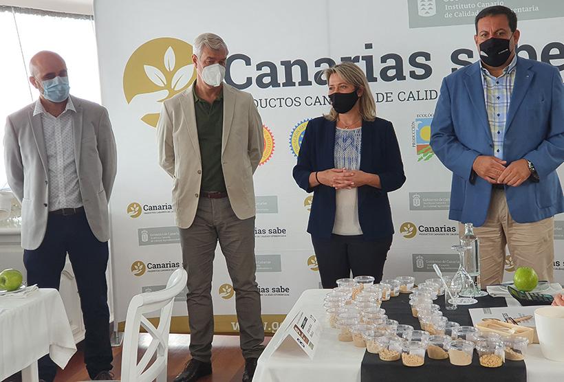 Imagen de la presentación del concurso de gofios de Canarias