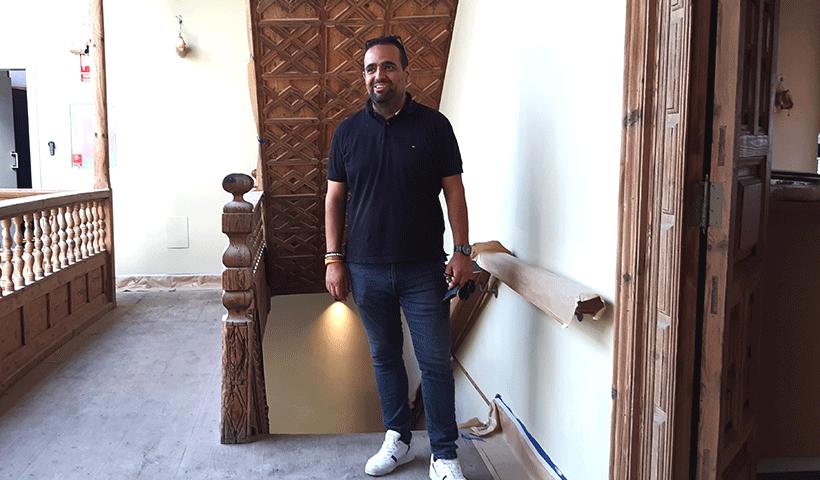 David Rodríguez, en el interior de la Casa Miranda | Foto: José L. Conde