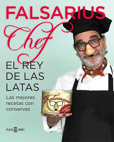 Portada de uno de los libros de Falsarius Chef