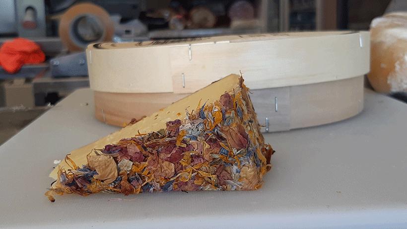 Alp Blossom, un queso austríaco de vaca con cobertura de flores   Foto: José L. Conde