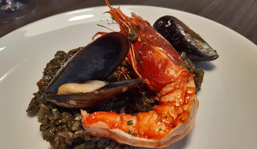 Arroz negro, con carabineros de La Santa (Lanzarote) | Foto: José L. Conde