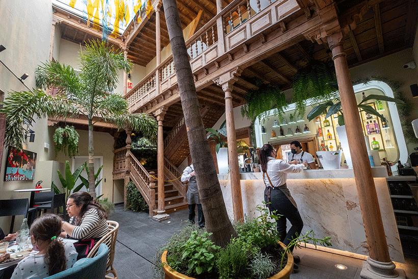 La Casa Miranda dispone de una superficie de 700 metros cuadrados dividida en tres plantas y además dispone de una terraza   Foto: Fran Pallero
