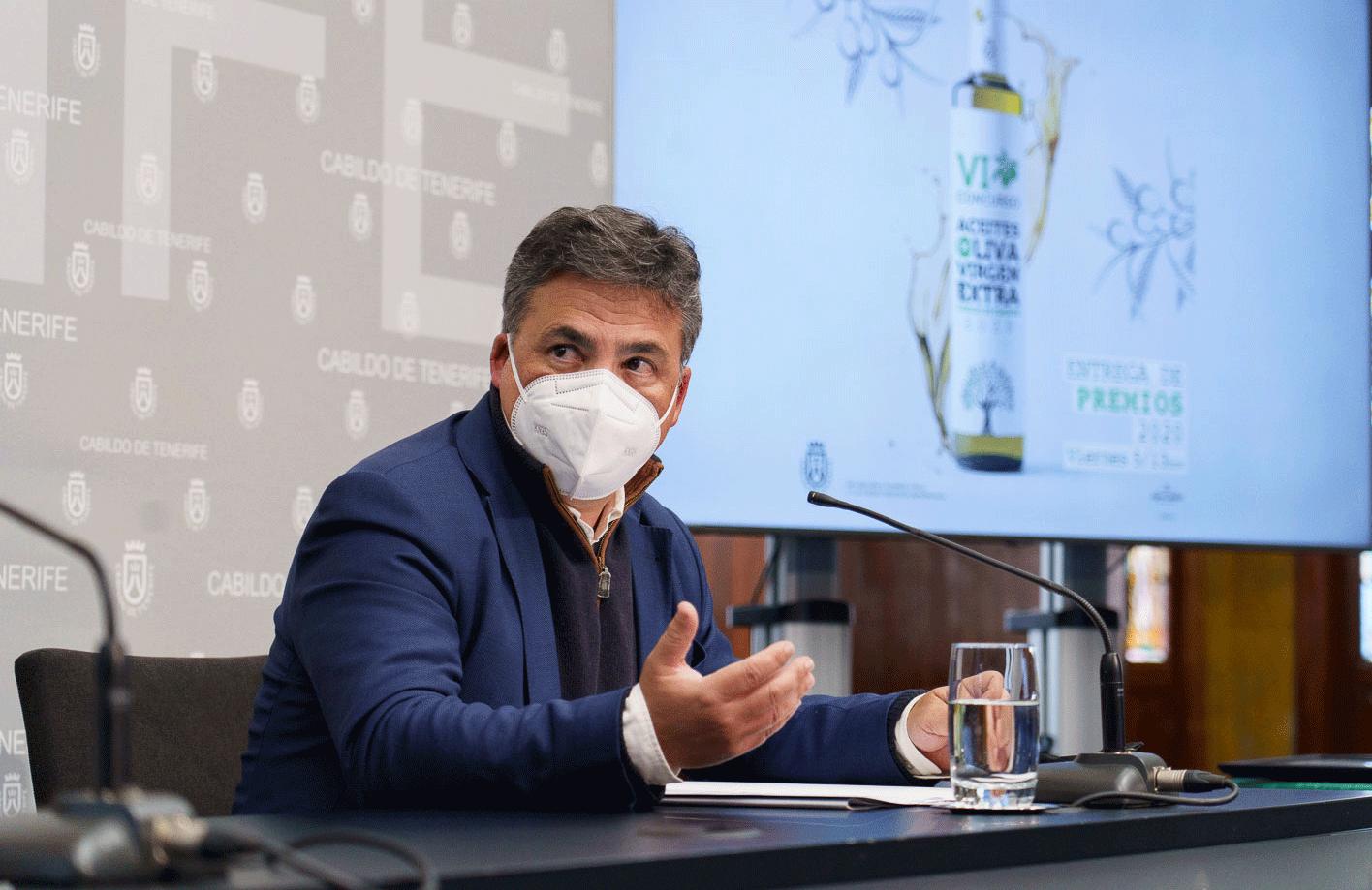 Javier Parrilla, consejero del Área de Agricultura, Ganadería y Pesca
