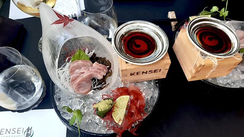Sashimi de madrigal en caipiriña   Foto: José L. Conde